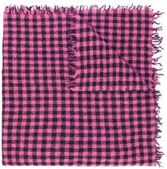 Faliero Sarti checked print scarf