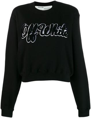 Off-White textured logo jumper