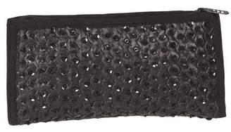 Global Treasures Handmade Midnight Black Sequin & Banana Leaf Clutch Handbag