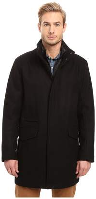 Andrew Marc Stanford Pressed Wool Car Coat with Removable Quilted Bib Men's Coat