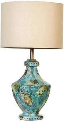 One Kings Lane Vintage Bitossi Style Volcanic Glaze Table Lamp
