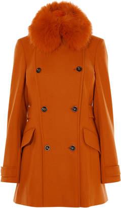 Karen Millen Faux-fur Collar Coat