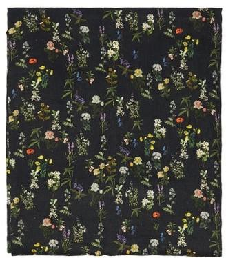 Preen by Thornton Bregazzi Floral Print 200cm X 140cm Linen Tablecloth - Black Print