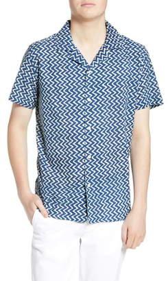 Wax London Didcot Slim Fit Stripe Short Sleeve Shirt