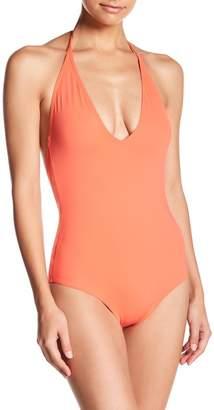 Onia Nina Plunging V-Neck One-Piece Swimsuit
