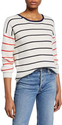 Kule Striped Long-Sleeve Crewneck Top