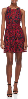 BCBGeneration Illusion V-Neck Fit & Flare Dress
