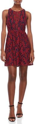 BCBGeneration Illusion V-Neck Fit & Flare Dress