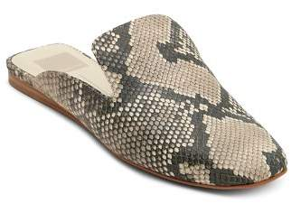 Dolce Vita Women's Brie Snake-Embossed Leather Mules