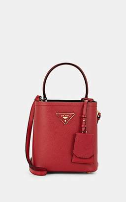 Prada Women's Small Leather Bucket Bag - Red