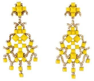 Valentino Enamel Studded Clip-On Earrings