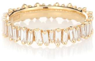 Suzanne Kalan 18kt gold and diamond eternity ring