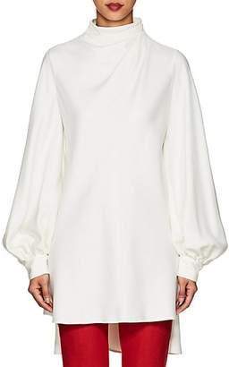 Giorgio Armani Women's Silk Mock-Turtleneck Tunic Blouse - Ivorybone