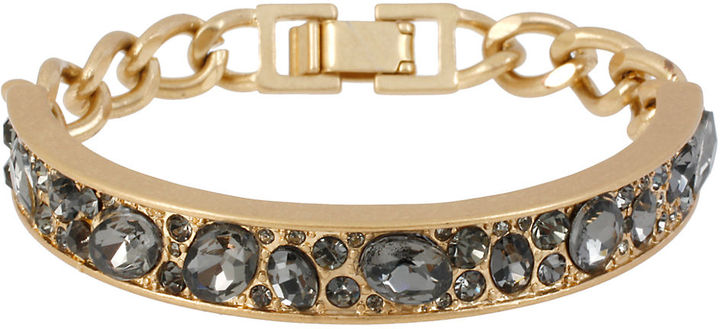 Kenneth Cole NEW YORK Gold-Tone Crystal-Embellished Bracelet