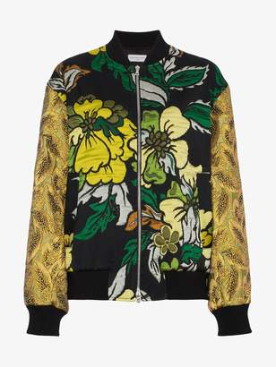 Dries Van Noten Embroidered Tapestry Bomber Jacket