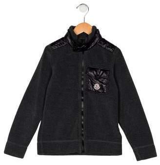 Moncler Boys' Fleece Zip-Up Jacket