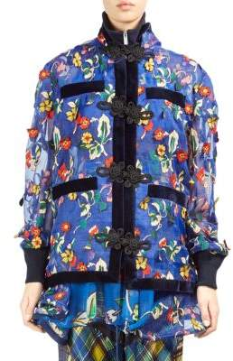 Sacai Floral Embroidered Convertible Jacket