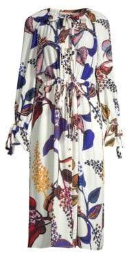 Stine Goya Jacques Floral Belted Midi Dress