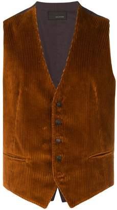 Tagliatore corduroy waistcoat