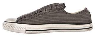 John Varvatos Converse by Striped Laceless Sneakers