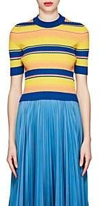 Maison Margiela Women's Striped Rib-knit Wool-Blend Sweater - Yellow