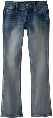 Mudd Girls 7-16 Double Button Skinny Bootcut Jeans