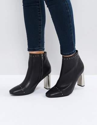Sol Sana Alicia Black Studded Heeled Ankle Boots