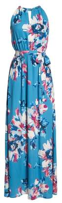 Charles Henry Floral Maxi Dress