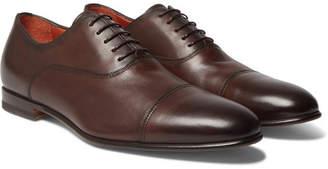 Santoni Cap-Toe Leather Oxford Shoes