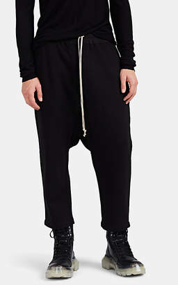 Rick Owens Men's Cotton Fleece Crop Sweatpants - Black