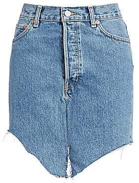 Vetements Women's Asymmetric Side-Cut Denim Skirt