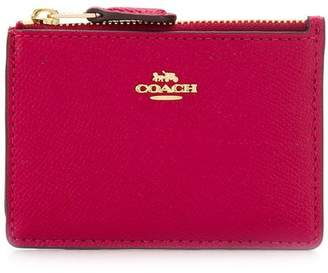 Coach leather purse with chain
