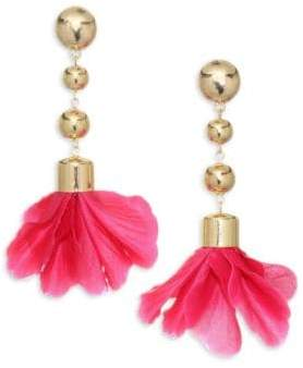 Ettika 18K Goldplated Flower Petal Earring