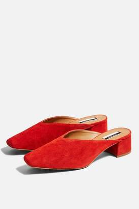 Topshop Womens JET Squared Toe Mules