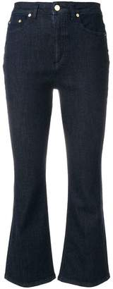 Alberta Ferretti high rise cropped flared jeans