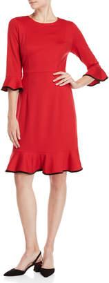 Nanette Lepore Nanette Flounce Hem Sheath Dress