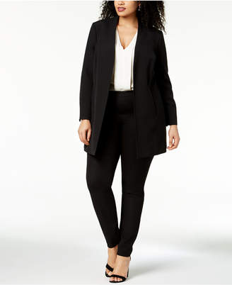 Kasper Plus Size Open-Front Topper Jacket