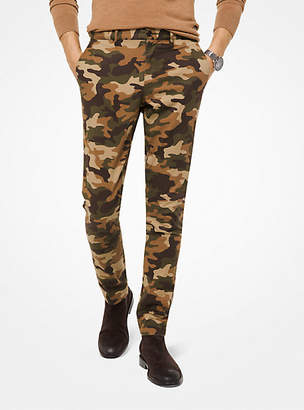 Michael Kors Slim-Fit Camouflage Cotton-Twill Chinos