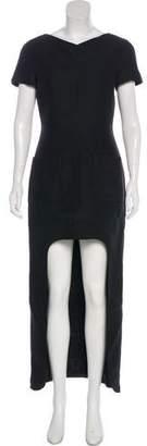 Chanel Metallic High-Low Dress
