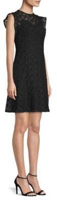 MICHAEL Michael Kors Lace Flounce-Sleeve Shift Dress