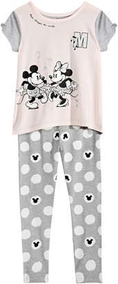 Disney (ディズニー) - Disney Little Girls 2-Pc. Mickey & Minnie Mouse Top & Leggings Set