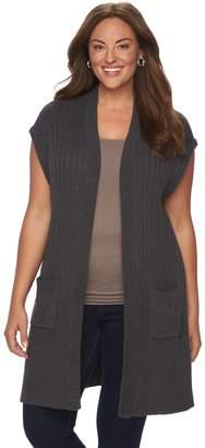 Croft & Barrow Plus Size Ribbed Sweater Vest