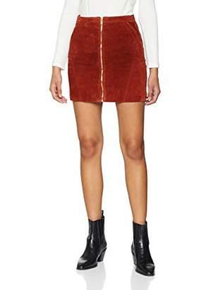 Only Women's Onlcamara Suede Skirt OTW, Brown Picante, 8 (Manufacturer Size: 34)
