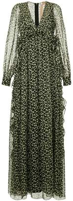 No.21 star print maxi dress