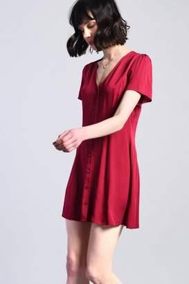 Glamorous **Button Front Winter T-Shirt Dress
