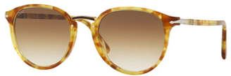 Persol Men's PO3210S Oval Acetate Keyhole Sunglasses - Gradient Lenses