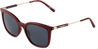 Calvin Klein Square Acetate/Metal Sunglasses