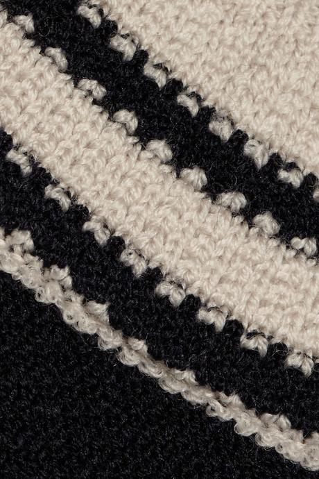 Chloé Striped waffle-knit wool-blend sweater