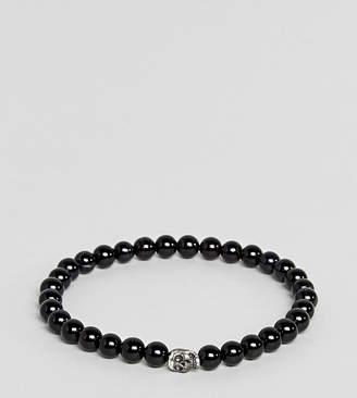 Simon Carter Black Beaded Bracelet With Sterling Silver Charm