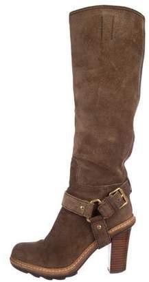 Prada Sport Suede Harness Boots